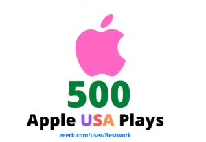 I will add 500 Apple USA Plays Lifetime Guaranteed
