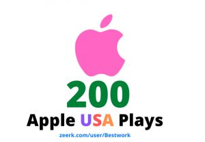 I will add 200 Apple USA Plays Lifetime Guaranteed