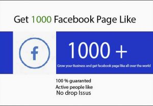 Get 1000+ facebook Page Like For you