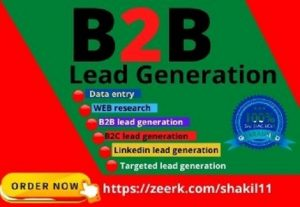 I will provide b2b lead generation