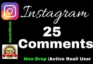 Get 25+ High-Quality Real Instagram Comment instant Only 3$, Real Active User and Organic, Lifetime guarantee