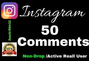 Get 50+ High-Quality Real Instagram Comment instant Only 4$, Real Active User and Organic, Lifetime guarantee