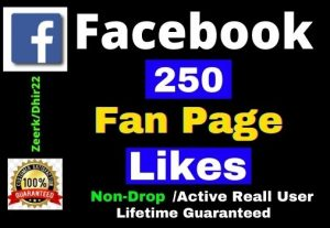 Add 250+ Facebook Fan Page Likes Instant only 3$, Non-Drop, Real User, Lifetime guaranteed, Refill Allowed