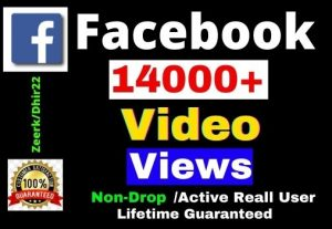 Get 14000+ Facebook Post Views Views Instant, Active and Real User Views, Non-drop, Lifetime guarantee, Only 3$