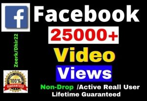Add 25000+ Facebook Post Views Views Instant, Active and Real User Views, Non-drop, Lifetime guarantee, Only 6$