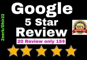 Get 20+ Permanent Google Review for your website or blog (USA Profile or worldwide)