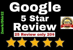 Get 25+ Permanent Google Review for your website or blog (USA Profile or worldwide) Only 20$