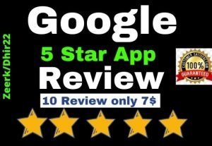 Add 10+ Permanent 5 Star APP Review only 7$