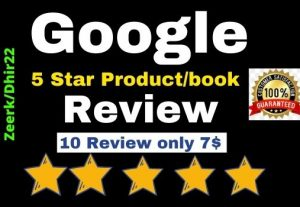 Get 10+ Permanent Google Product & Ebook Review for (USA Profile or worldwide) only 7$