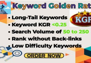 I will provide best SEO kgr keyword research to rank your website