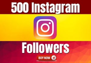 I Will Give You 500+ INSTAGRAM FOLLOWERS REAL ORGANIC, HIGH-QUALITY PROMOTION WITH NON DROP