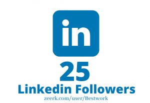 I will Add 25 Linkedin Followers NonDrop Lifetime Guaranteed