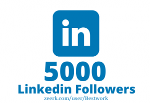 I will Add 5000 Linkedin Followers NonDrop Lifetime Guaranteed