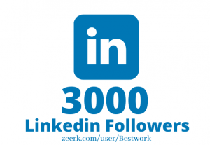 I will Add 3000 Linkedin Followers NonDrop Lifetime Guaranteed