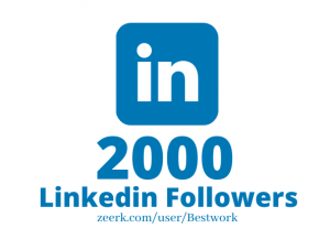 I will Add 2000 Linkedin Followers NonDrop Lifetime Guaranteed