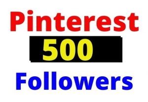 Get 500+ Pinterest Organic and Real followers, non-drop and Lifetime guaranteed