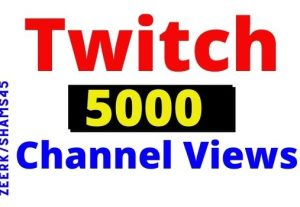 Get 5000+ Twitch organic and real Channel Views, real user, non-drop, permanent guarantee