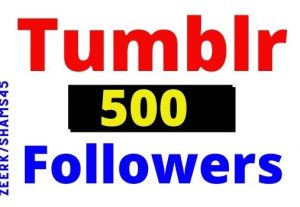 Get 500+ Tumblr Organic and Real followers, High Quality, non-drop, lifetime guaranteed