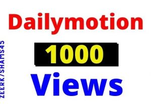 Get 1200+ DailyMotion Organic and Real Views instant, Non-drop, Lifetime guarantee