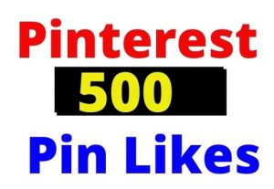 Add 500+ Pinterest Organic and Real Pin Likes, non-drop and Lifetime guaranteed