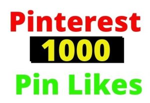 Add 1000+ Pinterest Organic and Real Pin Likes, non-drop and Lifetime guaranteed