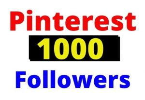 Get 1000+ Pinterest Organic and Real followers, non-drop and Lifetime guaranteed