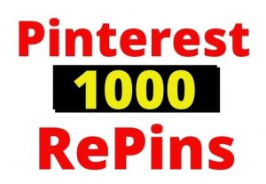 Provide 1000+ Pinterest Organic and Real RePins, non-drop and Lifetime guaranteed