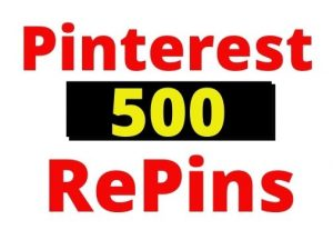 Provide 500+ Pinterest Organic and Real RePins Instant, non-drop and Lifetime guaranteed