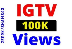 Get 100K+ IGTV Instant Views, Organic and Real, non-drop and Lifetime guaranteed