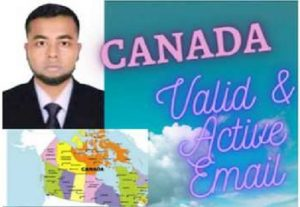 I Will Provide 3k Valid & Active CANADA Email list
