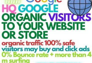 +1000 Google organic visitors to your website, URL, or store with 0 bounce rate and more than 150s surfing time