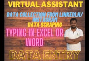 Virtual Assistant, Data Entry, Pdf to Word, Data Collection, Internet Research