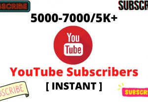 I will Provide 5000-7000/5K+ YouTube Subscribers NonDrop Lifetime Guaranteed