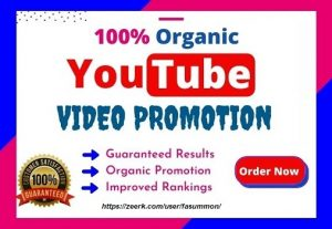 I will do YouTube Video Promotion Organically to Active Audience