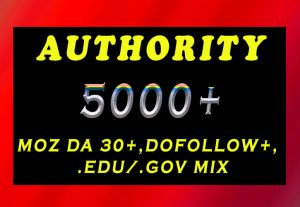 5000+ DA 30+, dofollow, EDU and GOV backlinks