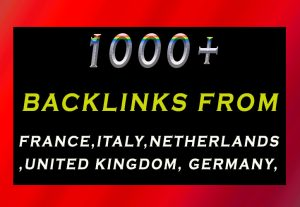 1000+ country based backlinks from local domains