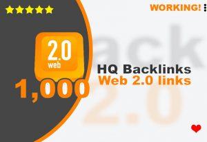 Get you 1,000 web 2.0 HQ backlinks