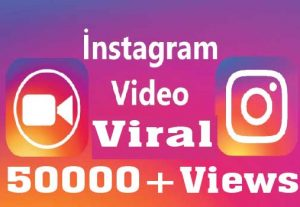 50000+ Instagram  Video Views Non drop High Retention and Active user