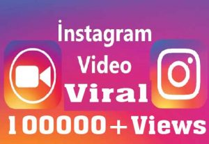 100000+ Instagram Video Views Non drop High Retention and Active user