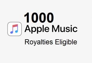1,000 Apple Music Streams From Premium Accounts ~ Royalties Eligible