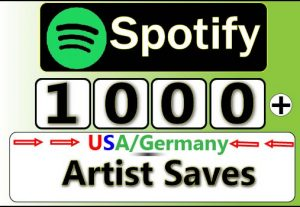 Get 1000+ Spotify Unique Artist Saves,Lifetime Guranteed Service For 5$