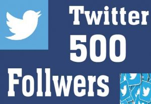 Real & High Quality 500+ Twitter Followers Non-Drop