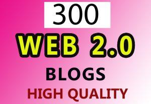 300 web 2.0 blog High Quality links for $8