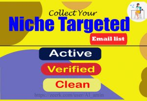 I will collect 10k niche targeted email list