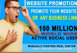 I will promote your website,blog, product, 10 million active peoples