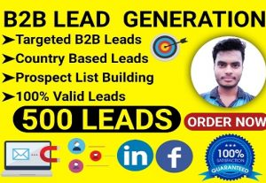 I will provide you 500 valid leads for your business promotion