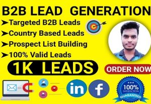 I will provide you 1K valid leads for your business promotion