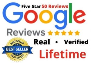 50 Permanent and Real Google Review for you