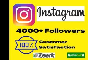 I Will Add 4000+ Instagram Followers Instant, No-Drop, Active User And Lifetime Guaranteed
