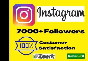 I Will Add 7000+ Instagram Followers Instant, No-Drop, Active User And Lifetime Guaranteed